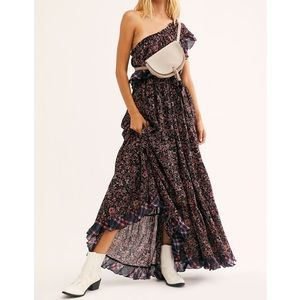 {M,L} Free People Floral & Plaid Maxi Dress